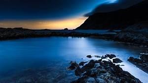 Wallpaper, Norway, 4k, Hd, Wallpaper, Blue, Sunset, Sea, Ocean, Water, Sky, Clouds, Rocks, Sunrise