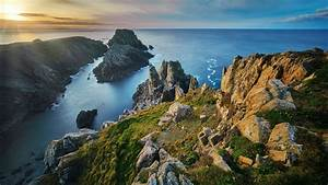 coastline, mountain, sea, clouds, 4k, hd, wallpapers