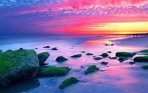 Nature, Landscapes, Sunset, The, Hague, Netherlands, Sea, Coast, Rocks, Red, Sky, Wallpaper, Hd, 1920x1080