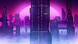 City, View, Synthwave, 4k, Hd, Vaporwave, Wallpapers