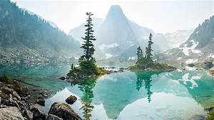 winter, jungle, mountains, lake, reflection, preview