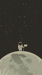 Digital, Art, Portrait, Display, Simple, Background, Minimalism, Space, Universe, Planet, Stars