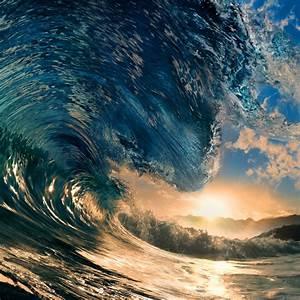 wallpaper, sea, , 5k, , 4k, wallpaper, , ocean, , water, , wave, , sunset, , sky, , rays, , sun, , blue, , os, , 402
